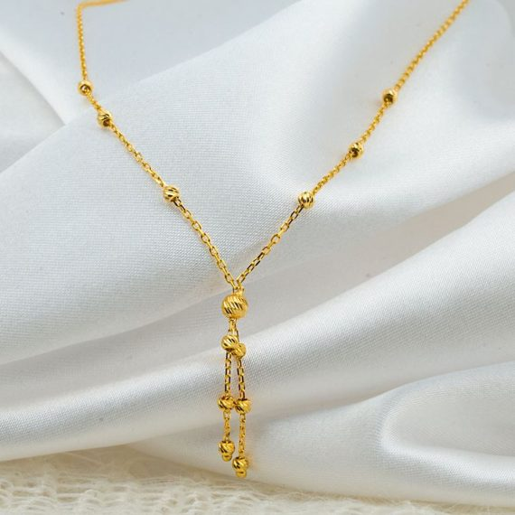 Tasseled Gold Chain Necklace