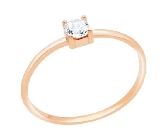pink gold ring for engagement