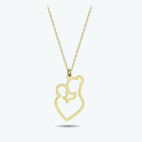 Gold Mom&Child Lovely Necklace