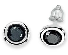 Earring, 0.10carat, diamond, for men, black diamond