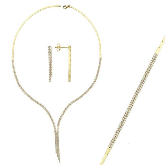Gold Double Line Set