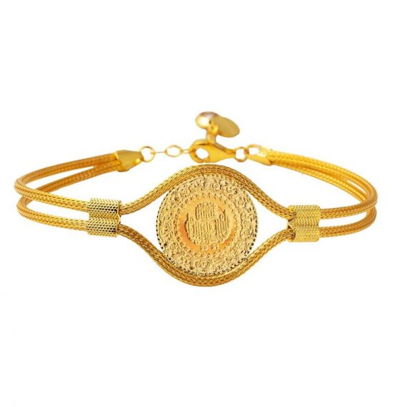 Quarter Gold Coin Chain Bracelet