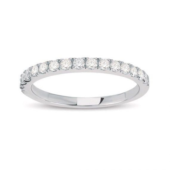 Half Round Diamond Ring