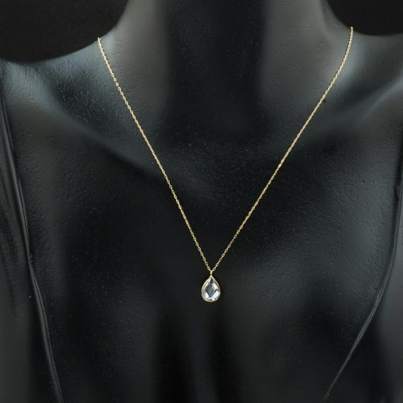 Drop Stone Ghost Gold Necklace