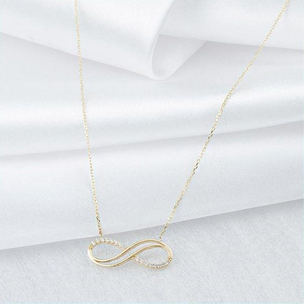 Infinity & Elegance Gold Necklace
