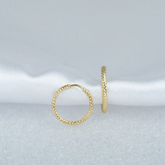 14k Gold Hoop Earrings Without Stones